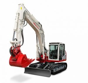 Miniretro excavadora marca Takeuchi modelo TB2150