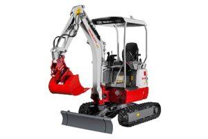 Miniretro excavadora marca Takeuchi modelo TB215R (2)