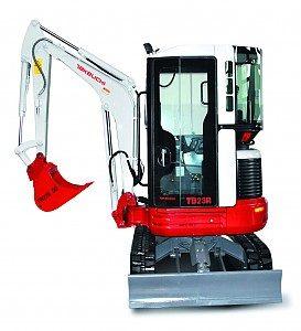 Miniretro excavadora marca Takeuchi modelo TB23R