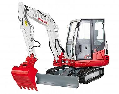 Miniretro excavadora marca Takeuchi modelo TB240