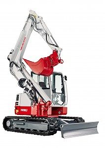 Miniretro excavadora marca Takeuchi modelo TB280FR