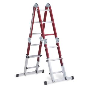 Escalera telescópica multiposición de aluminio